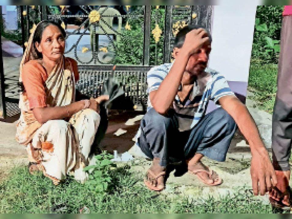 हादसे के बाद रोते परिजन - Dainik Bhaskar