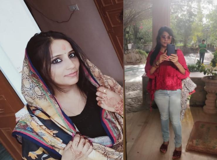 रेखा ने जयपुर में फौजी और सीकर में पीड़ित को अपने कई फोटो भेजे।