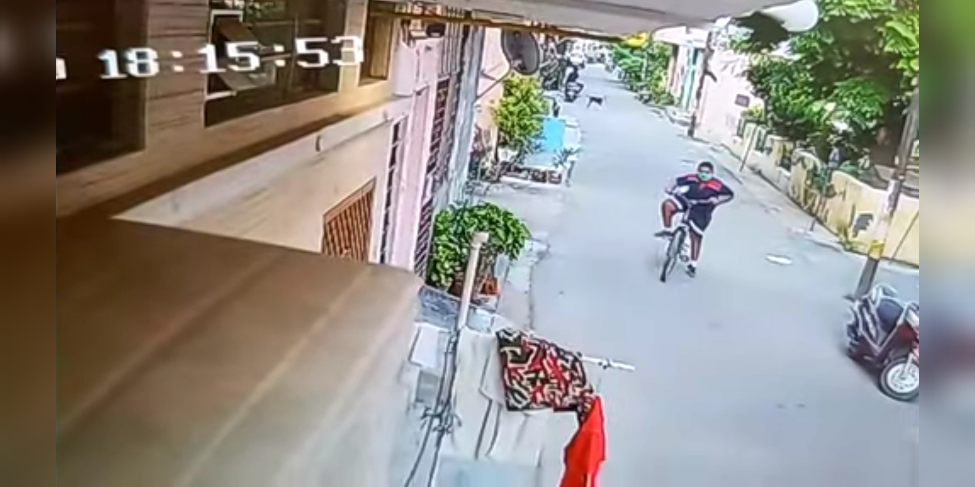 संजयनगर से लापता छात्र हिमांशु को आखिरी बार गली में ही साइकिल चलाते देखा गया था। - Dainik Bhaskar