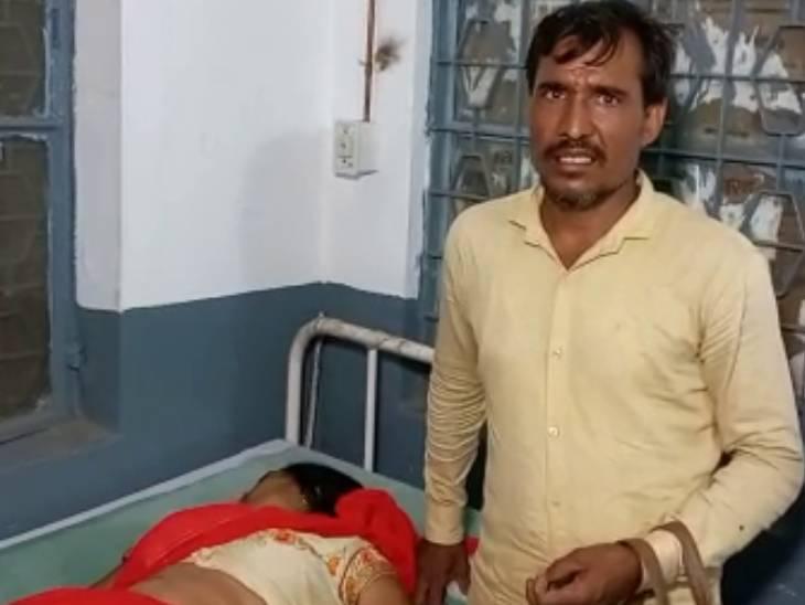 बिजनौर में बाइक से घर जा रहा था कपल, रास्ते में बदमाशों ने महिला के कान से बाली नोची|बिजनौर,Bijnor - Dainik Bhaskar