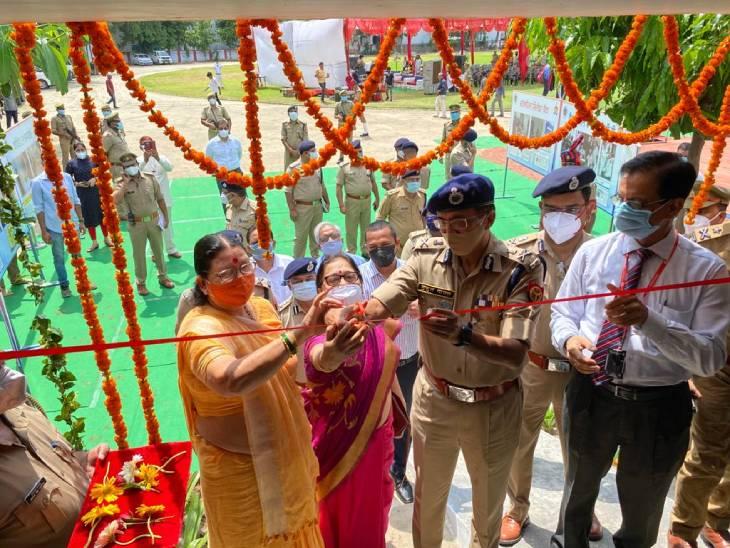 DGP मुकुल गोयल ने पुलिस लाइन में अस्पताल का उद्घाटन किया, 16 मरीजों के भर्ती होने का यहां इंतजाम कानपुर,Kanpur - Dainik Bhaskar