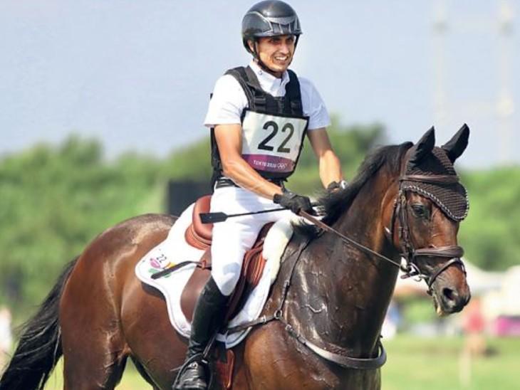 ओलिंपिक ब्रॉन्ज मेडलिस्ट बेटीना हॉय के घोड़े पर बैठकर टोक्यो में उतरे थे, फाइनल में पहुंचने वाले पहले भारतीय|जयपुर,Jaipur - Dainik Bhaskar