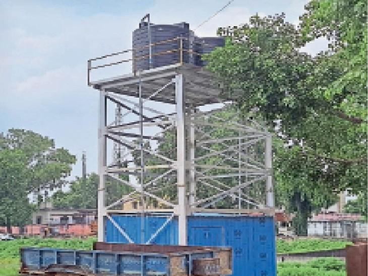 वार्ड 16 का पानी टॉवर - Dainik Bhaskar