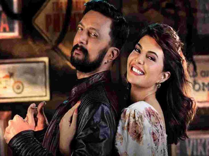 'विक्रांत रोना' के एक दृश्य में जैकलीन और सुदीप। यह फिल्म 14 भाषाओं और 55 देशों में रिलीज होगी। - Dainik Bhaskar