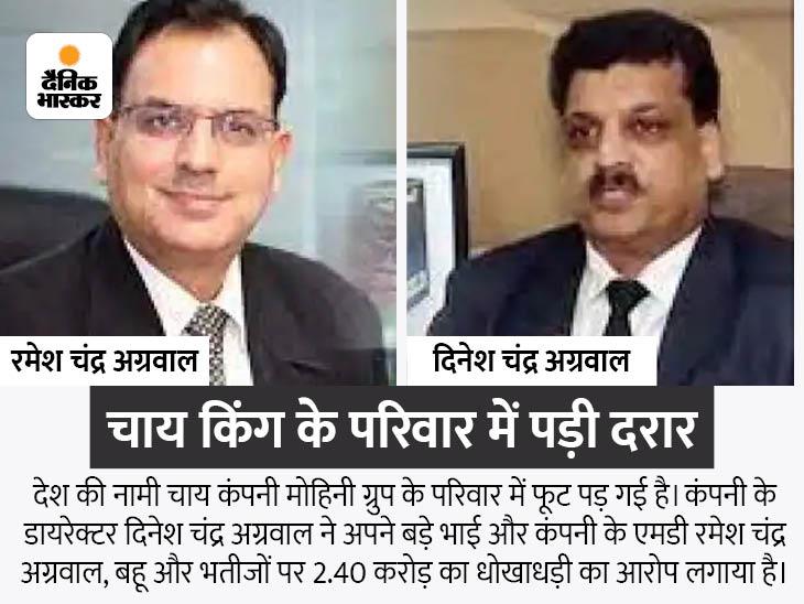 2.40 करोड़ के फ्रॉड का आरोप, कंपनी के डायरेक्टर ने बड़े भाई रमेश चंद्र अग्रवाल, बहू और भतीजों पर दर्ज कराई FIR कानपुर,Kanpur - Dainik Bhaskar