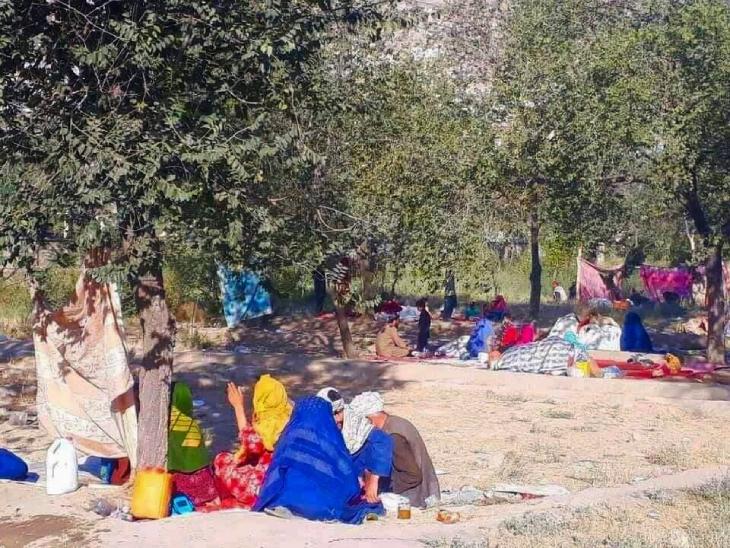 तालिबान के खौफ से लोग दूरदराज के प्रांतों से भागकर काबुल आ रहे हैं। काबुल में इस समय जगह-जगह इस तरह के कैंप नजर आते हैं।