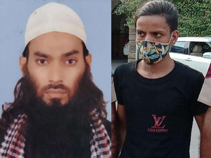 मृतक मोहम्मद माजिद साबरी और पुलिस गिरफ्त में साला नजरूल। - Dainik Bhaskar