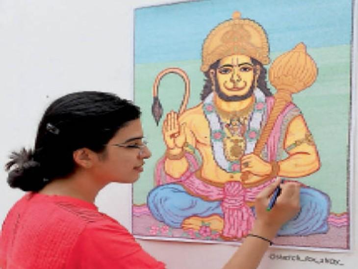 श्रीराम मंदिर की आकृति बना इंडिया बुक में नाम दर्ज करा चुकी है शिवानी। - Dainik Bhaskar