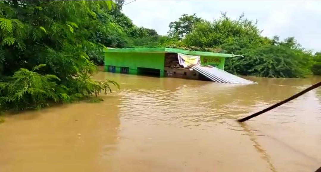 कानपुर में अभी तक चेतावनी बिंदु तक भी नहीं पहुंचीं गंगा, यमुना से घाटमपुर के 4 गांव पूरी तरह डूबे, ये है प्रमुख वजह|कानपुर,Kanpur - Dainik Bhaskar