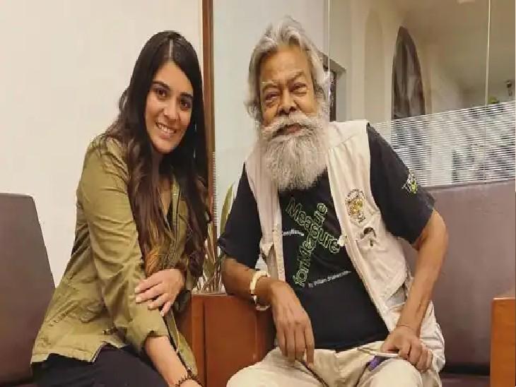 अनुपम श्याम के साथ प्रतिज्ञा फेम एक्ट्रेस पूजा गोर।