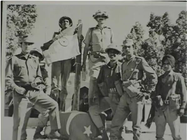 Indian soldiers captured the village of Nagarparkar in Pakistan on 8 December, then photo.