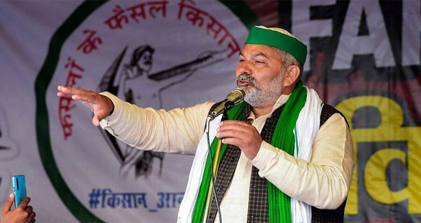 राकेश टिकैत इससे पहले दिल्ली के अंदर झंडा फहराने की बातें कह रहे थे।