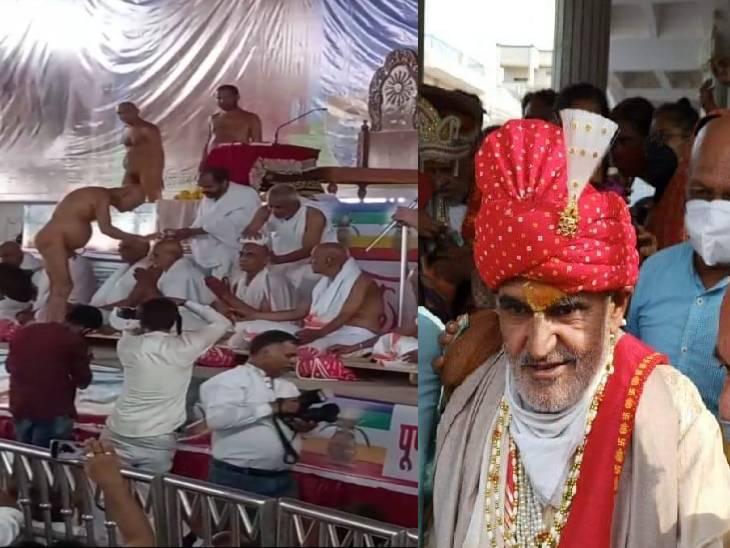 आईएएस अफसर के पिता मल्ल कुमार जैन 23 लोगों ने ली छुल्लक की दीक्षा। - Dainik Bhaskar