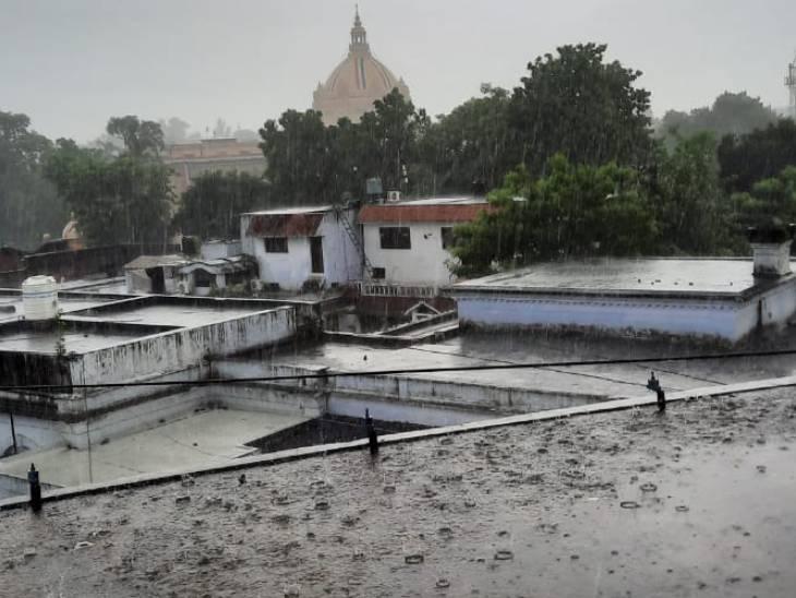 लखनऊ में तेज बारिश, आगरा रहा प्रदेश में सबसे गर्म; अब पश्चिमी यूपी में दिखेगा मानसून का हल्का असर लखनऊ,Lucknow - Dainik Bhaskar