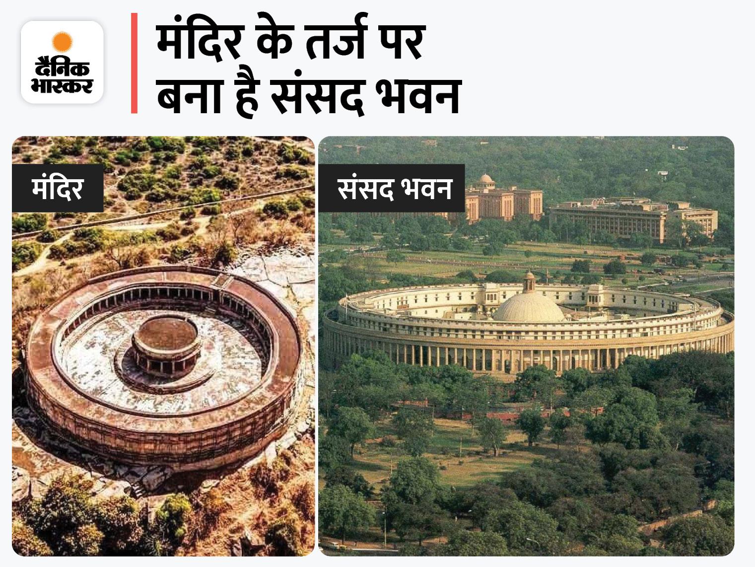 MP के चौसठ योगिनी शिव मंदिर के हर कमरे में 1 शिवलिंग, 700 साल पहले हुआ था तैयार मुरैना,Morena - Dainik Bhaskar