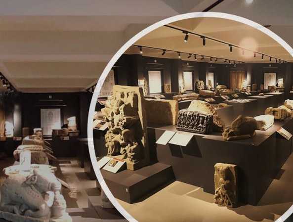 A museum built to see the ancient artefacts of Somnath.