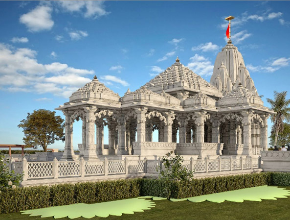 The grand temple of Maa Parvati will be decorated with white marble near the Yagya Mandap.