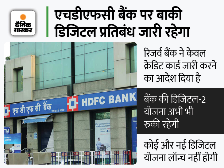 अब जारी कर पाएगा क्रेडिट कार्ड, दिसंबर में रिजर्व बैंक ने लगाया था प्रतिबंध बिजनेस,Business - Dainik Bhaskar