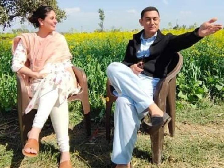 करीना कपूर ने कहा- आमिर खान के साथ फिल्म के एक रोमांटिक सॉन्ग का हिस्सा बेटा जेह भी है बॉलीवुड,Bollywood - Dainik Bhaskar