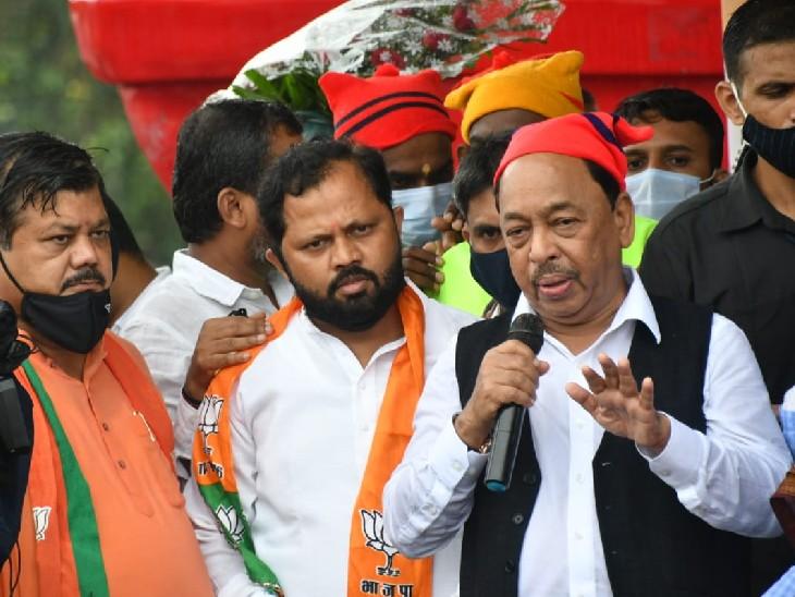 BJP leader Praveen Darekar was also present along with Narayan Rane.
