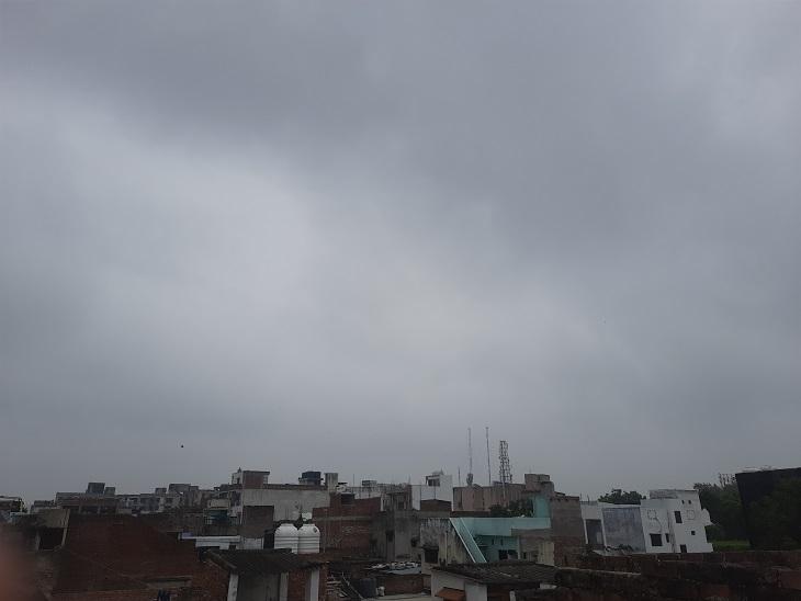 लखनऊ समेत 25 जिलों में बारिश होने के आसार, 45 किमी प्रति घंटे की रफ्तार से चलेंगी हवाएं, आगरा रहा सबसे ज्यादा गर्म लखनऊ,Lucknow - Dainik Bhaskar