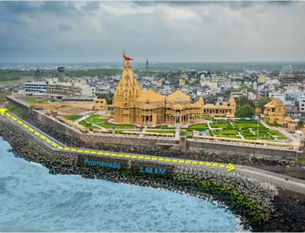 Walk-way built at a cost of Rs 45 crore near Somnath temple.