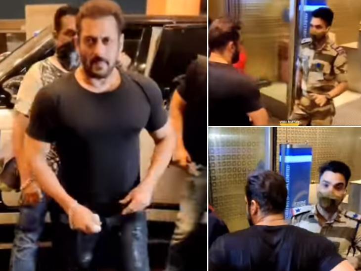 मुंबई एयरपोर्ट में सिक्योरिटी चैक के लिए रोके गए सलमान खान, सोशल मीडिया पर CISF ऑफिसर को सैल्यूट कर रहे लोग|बॉलीवुड,Bollywood - Dainik Bhaskar