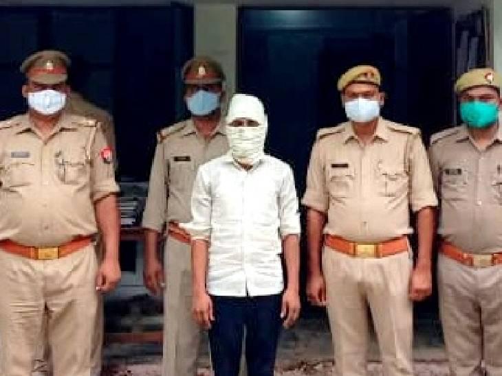 पुलिस ने गांव के एक आरोपी को अरेस्ट किया, हत्या की वजह पता नहीं चली|सीतापुर,Sitapur - Dainik Bhaskar