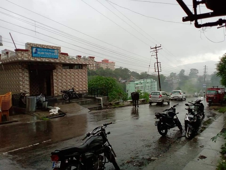 A view of pleasant weather after rain in Himachal Pradesh.