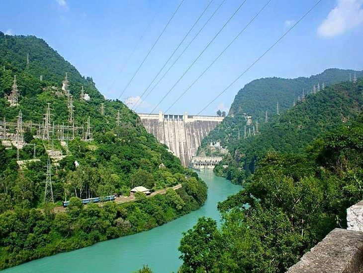 Bhakra Dam is located in Nangal and is built on the river Sutlej.