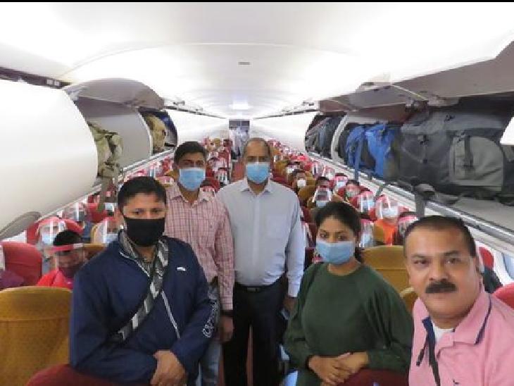 एअर इंडिया 1956 विमान रविवार को ताजिकिस्तान से 87 भारतीयों को लेकर नई दिल्ली पहुंचा।