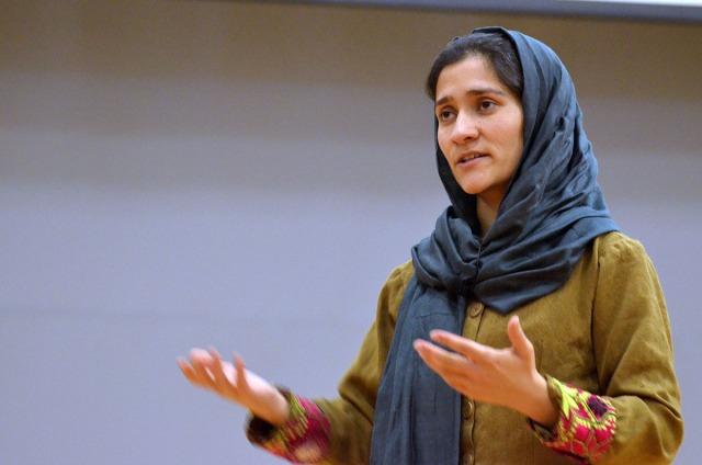 25 साल की शबाना बासिज रासिख लड़कियों की शिक्षा की हिमायती हैं। -फाइल फोटो