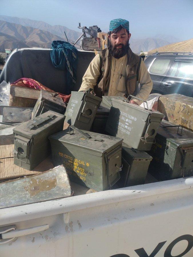 तालिबान का दावा है कि उसने अंदराब में भारी मात्रा में हथियार कब्जाए हैं।