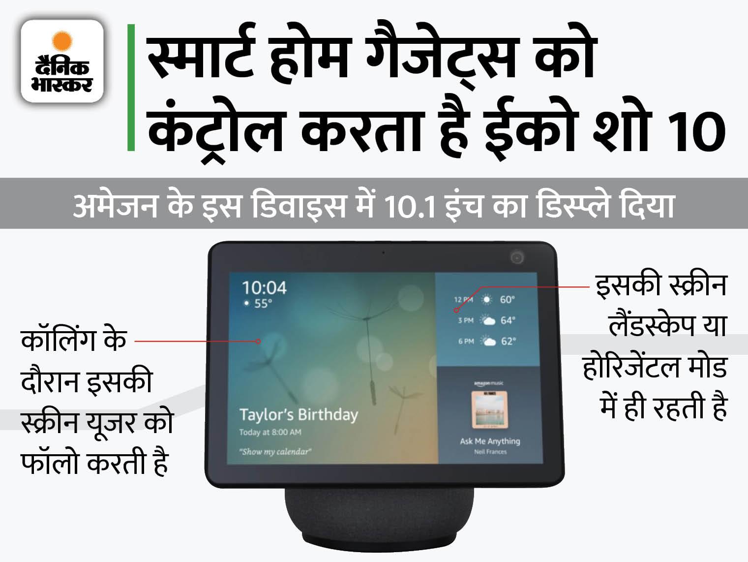 लाइफ को स्मार्ट और आसान बनाता है अमेजन ईको शो 10, लेकिन इसे खरीदें या नहीं? इसकी खूबियों और कमियों के साथ समझें टेक & ऑटो,Tech & Auto - Dainik Bhaskar
