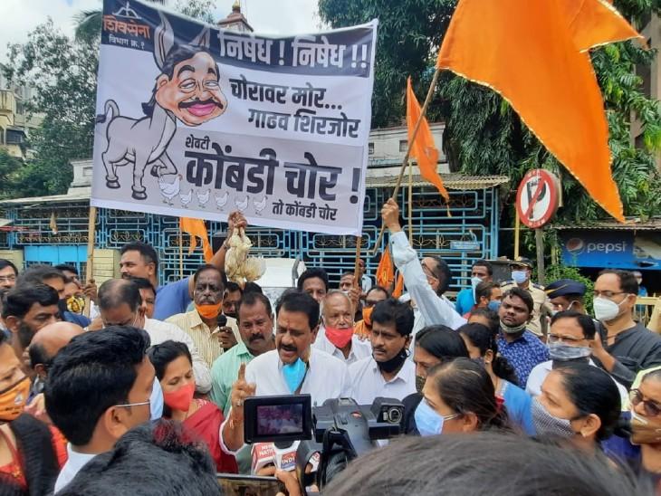 केंद्रीय मंत्री नारायण राणे को महाड दिवानी कोर्ट ने जमानत दी, उद्धव ठाकरे के खिलाफ बयानबाजी के मामले में हुई थी गिरफ्तारी महाराष्ट्र,Maharashtra - Dainik Bhaskar