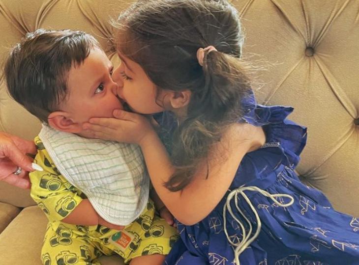 कजिन इनाया ने सैफ-करीना के छह महीने के बेटे जहांगीर अली खान को बांधी पहली राखी, इस तरह जमकर लुटाया प्यार बॉलीवुड,Bollywood - Dainik Bhaskar
