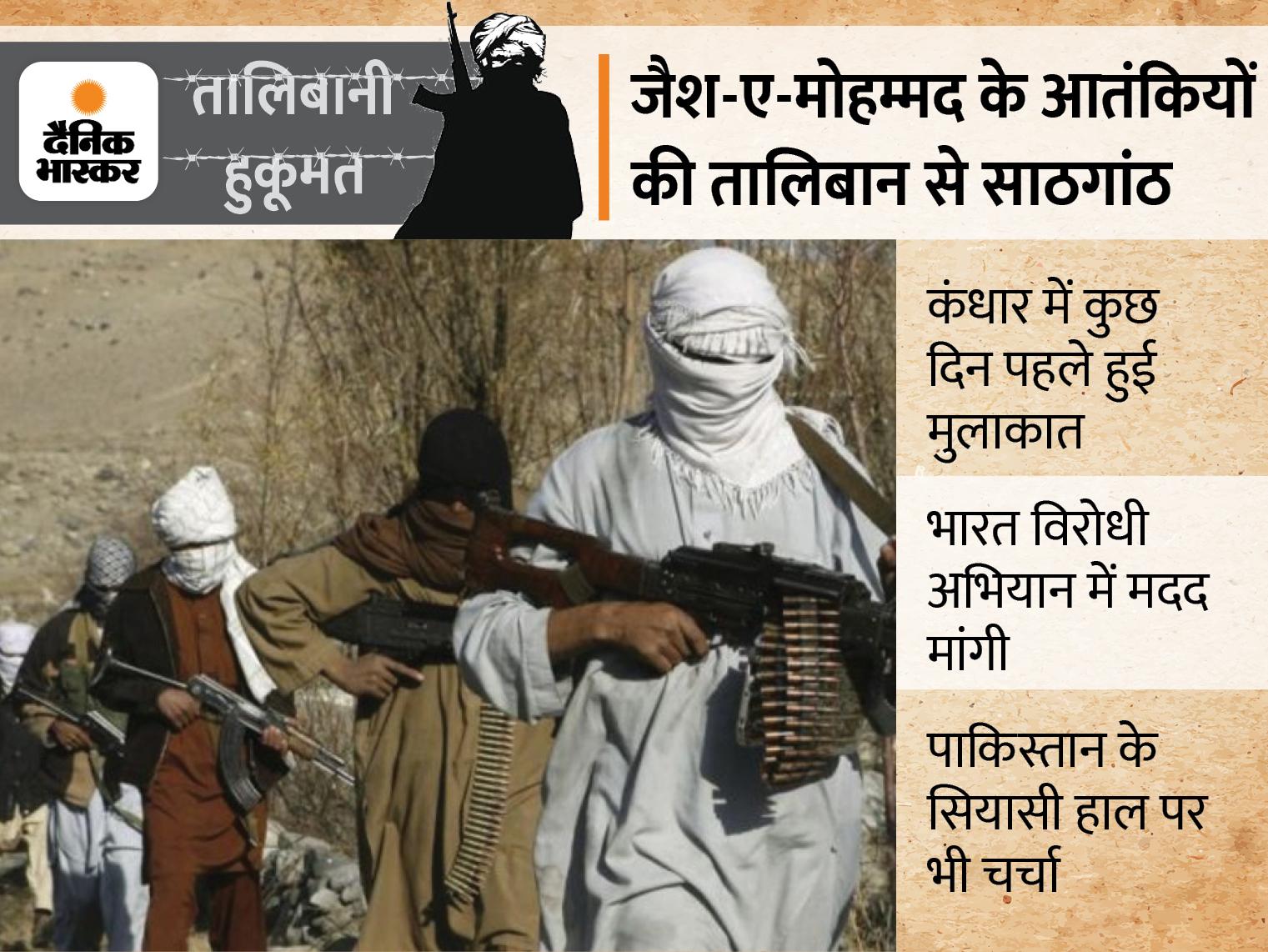 पाकिस्तानी आतंकियों ने कंधार में तालिबान से की सीक्रेट मीटिंग; कश्मीर समेत सभी राज्यों को अलर्ट जारी|देश,National - Dainik Bhaskar