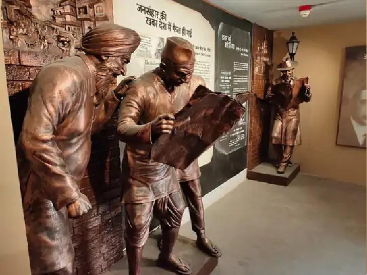 शहीदों को समर्पित गैलरी का एक दृश्य।