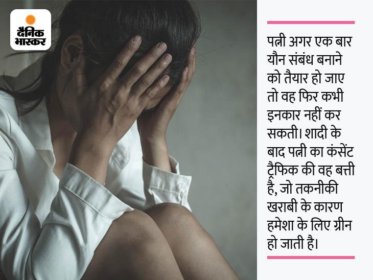जब तक पत्नी के शरीर पर चोट के हल्के या गहरे निशान न बनें, पति की जबर्दस्ती रेप होकर भी रेप नहीं माना जाएगा|DB ओरिजिनल,DB Original - Dainik Bhaskar