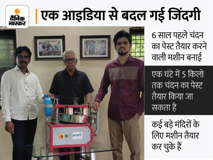 7वीं पास सुभाष ने बनाई चंदन का पेस्ट तैयार करने वाली मशीन; सालाना 16 लाख रुपए का बिजनेस, विदेशों से भी आ रहे हैं ऑर्डर|DB ओरिजिनल,DB Original - Dainik Bhaskar