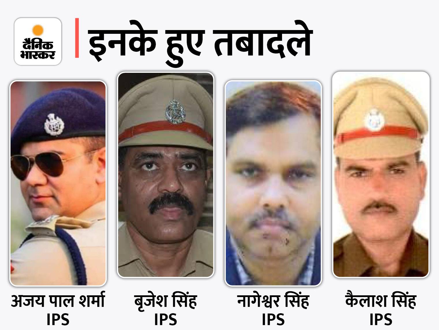 विवादों में रहे अजय पाल शर्मा को यूपी-112 की कमान, कैलाश सिंह आगरा SP अभिसूचना;1992 बैच के 9 PPS को भी जल्द प्रमोशन|लखनऊ,Lucknow - Dainik Bhaskar