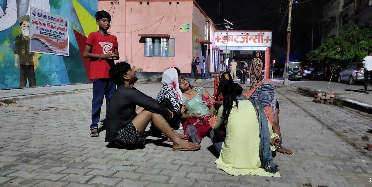 अलीगढ़ के थाना गभाना में खीजरपुर पुलिस के पास देर रात हुआ हादसा, बुलंदशहर से अलीगढ़ आ रहे थे दोनों, अज्ञात वाहन ने मारी टक्कर अलीगढ़,Aligarh - Dainik Bhaskar