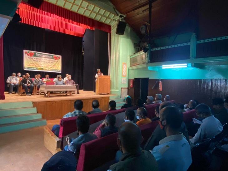 संयुक्त किसान मोर्चा के तहत कई पार्टियों के नेता एक मंच पर आए, चेतावनी- तैयार रहे सरकार, सड़कों पर उतरेंगे हम|शिमला,Shimla - Dainik Bhaskar