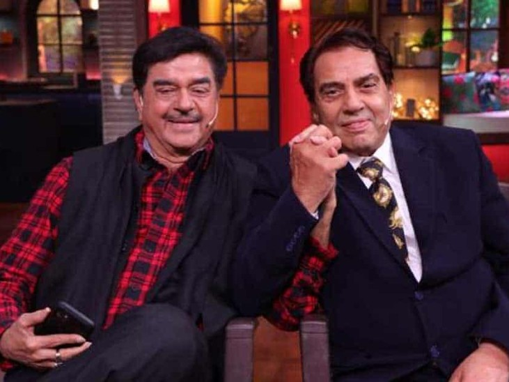 शो में नजर आई शत्रुघन सिन्हा और धर्मेंद्र की जोड़ी, दोनों ने खीची एक दूसरे की टांग बॉलीवुड,Bollywood - Dainik Bhaskar