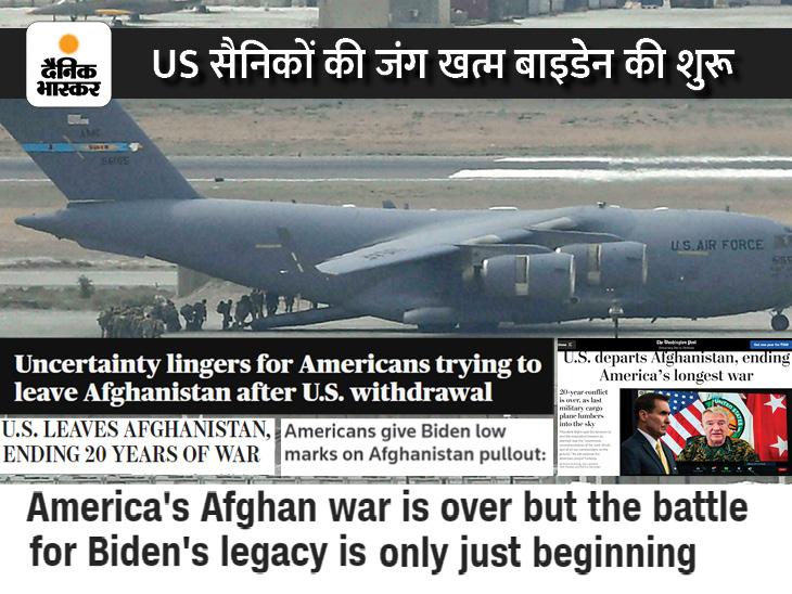 हार का सीधा असर जो बाइडेन की छवि पर; कैसे याद रखे जाएंगे अमेरिकी राष्ट्रपति, अफगानिस्तान में हार, घर में जमीन खोने का डर|विदेश,International - Dainik Bhaskar