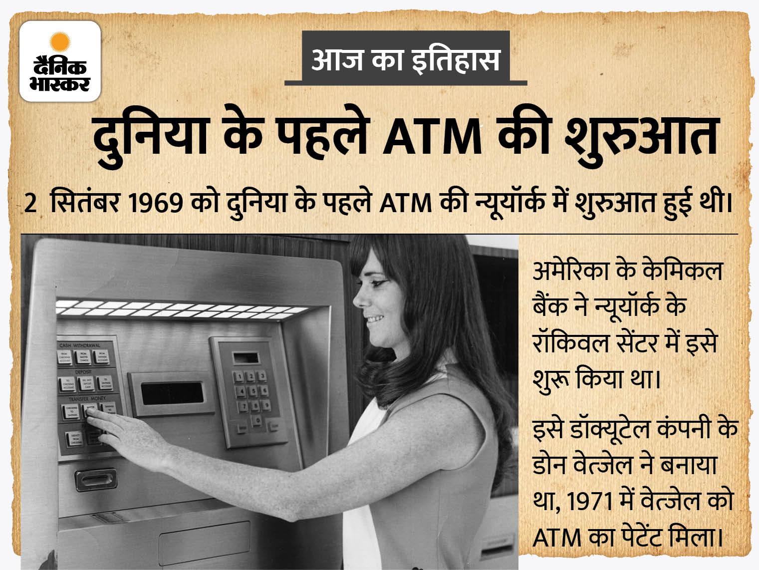 2 सितंबर को हमारा बैंक सुबह 9 बजे खुलेगा और कभी बंद नहीं होगा; ऐसा था न्यूयॉर्क में शुरू हुए दुनिया के पहले ATM का विज्ञापन|देश,National - Dainik Bhaskar