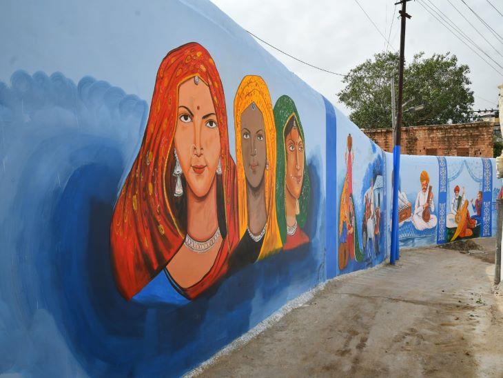 जोधपुर में पहले सिर्फ ब्लू वॉल थी लेकिन अब इन वॉल पर बनी पेंटिंग ने इस क्षेत्र को देश-विदेश में अलग पहचान दिला दी। हालांकि अभी विदेशी पर्यटकों का जोधपुर पहुंचना शुरु नहीं हुआ है लेकिन देशी पर्यटक भी अब इस वॉल पेंटिंग की दीवार को खोजते हुए सिटी पुलिस पहुंच रहे हैं।