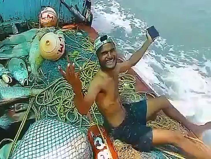 पालघर में मछुआरे के जाल में फंसीं 157 'सी गोल्ड' मछलियां, UP और बिहार के व्यापारियों ने 1 करोड़ 33 लाख में खरीदीं|महाराष्ट्र,Maharashtra - Dainik Bhaskar