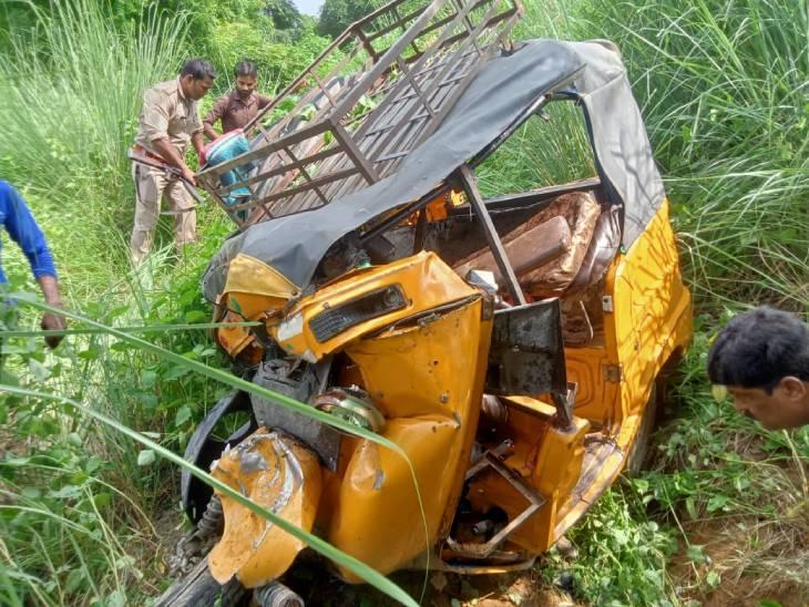 तेज रफ्तार स्विफ्ट कार ने टेंपो को मारी टक्कर, खाई में गिरा; मची चीख पुकार, कादरचौक रोड पर पेट्रोल पंप के पास हुआ हादसा|बदायूं,Badaun - Dainik Bhaskar