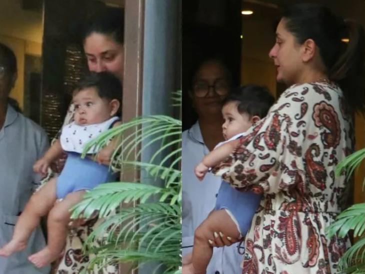 मॉर्निंग वॉक के बाद करीना कपूर घर के बाहर छोटे बेटे जहांगीर के साथ आईं नजर, बिना मेकअप के दिखीं बेबो|बॉलीवुड,Bollywood - Dainik Bhaskar